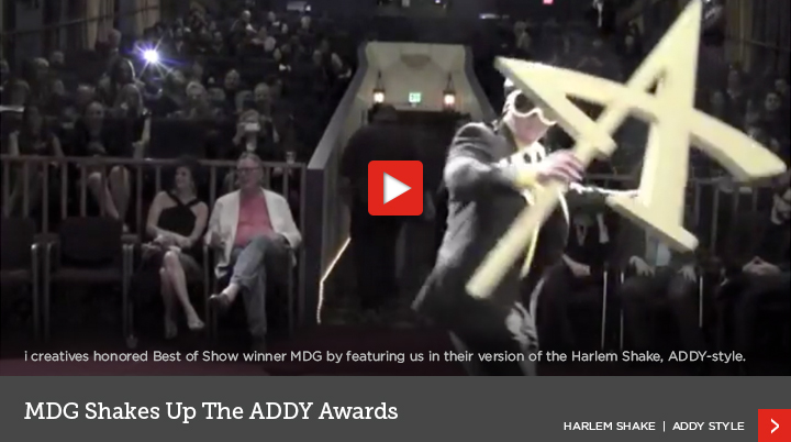 MDG Shakes Up the Addy Awards