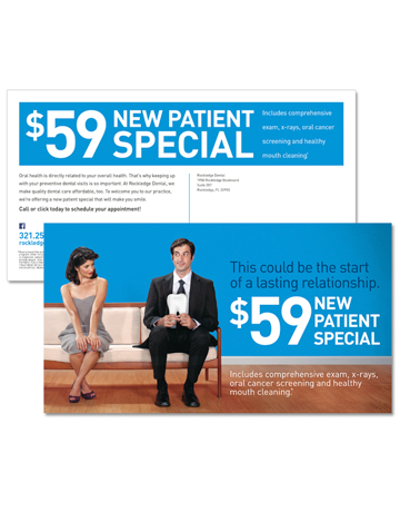 "Rockledge Dental ""New Patient Offer"" Direct Mail"