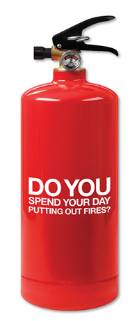 Acquisition Direct Mail - Do You Spend Your Day Putting Out Fires? - Front