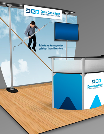 Dental Practice Acquisition Trade Show Booth