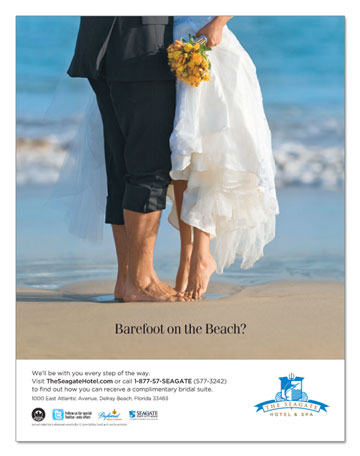 """Barefoot on the Beach?"" Ad"