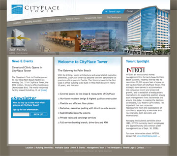 CityPlaceTower.com Homepage