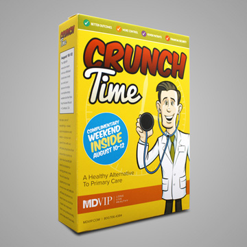 """Crunch Time"" Physician Recruitment 3-D Invitation"