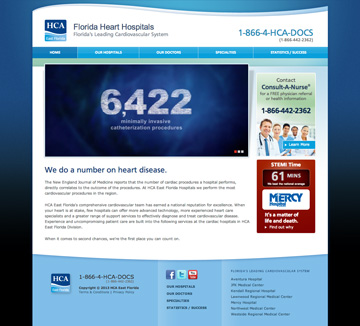 Florida Heart Hospitals Website