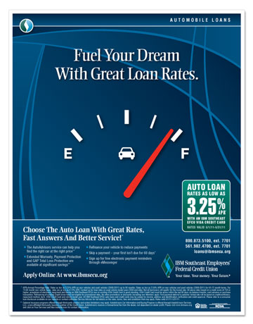"""Fuel Your Dream"" Auto Loan Flyer"
