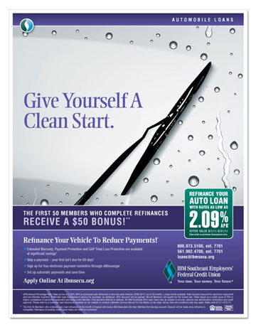 """Give Yourself A Clean Start"" Auto Loan Flyer"