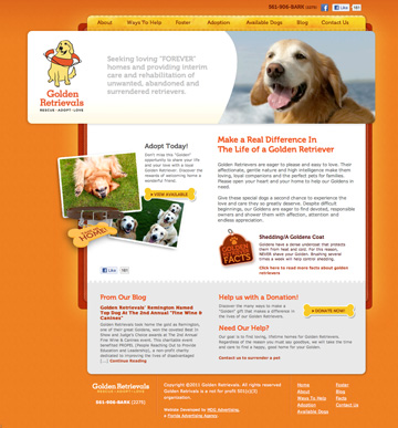 Golden Retrievals Homepage