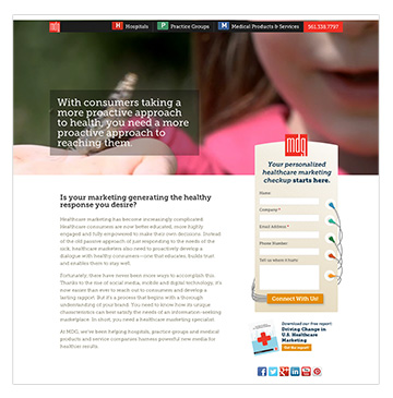 Healthcare Marketing Microsite