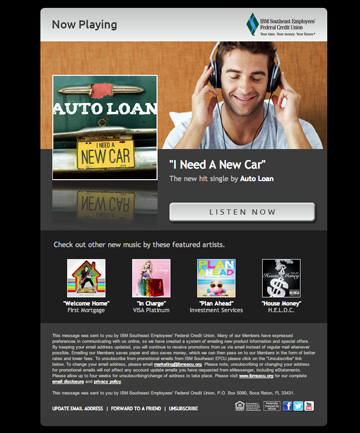 """I Need A New Car"" Auto Loan Email"