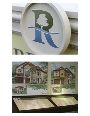 Interior Sales Office Signage