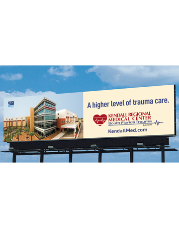 Kendall Medical Center Level II Trauma Billboard