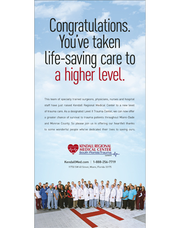 Kendall Medical Center Level II Trauma Ad