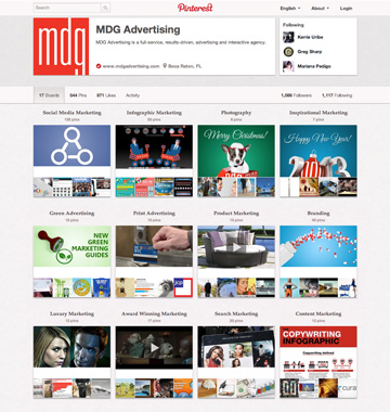 MDG Pinterest Page