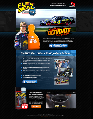 Nascar Ultimate Fan Experience Landing Page