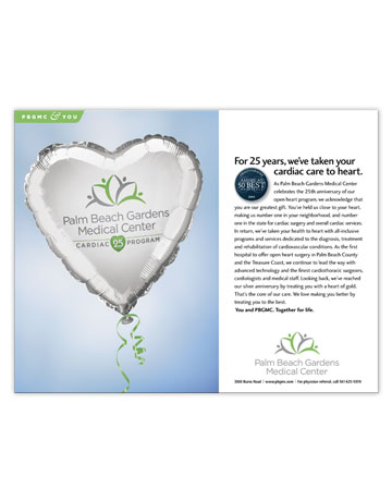 Print Ad: 25th Anniversary of Cardiac Program