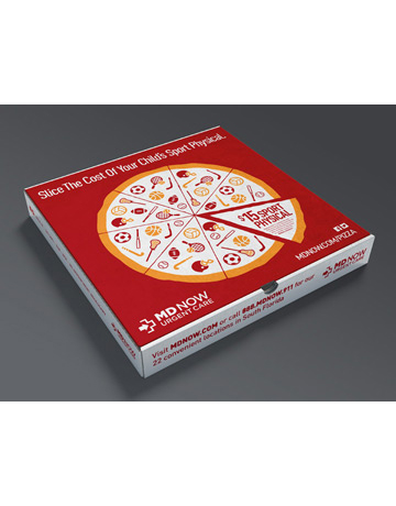 """Sports Physical"" Pizza Box"