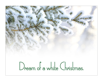"""Dream of a White Christmas"" Banner"