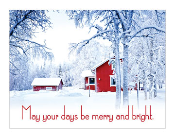"""May Your Days Be Merry and Bright"" Banner"