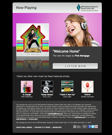 """Welcome Home"" First Mortgage Email"