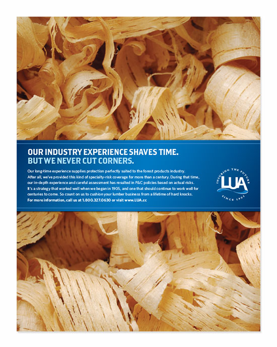LUA Lumbermans Insurance Ad Campaign Packaging
