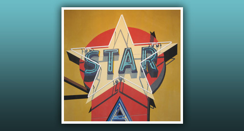 Now Showing at the Boca Raton Museum: Robert Cottingham, Twenty Ways To See A Star