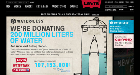 Levi's Slips Into Water Mission On Facebook