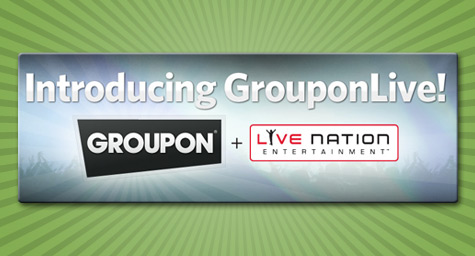 Groupon And Live Nation Make A Deal For Online Ticketing Deals