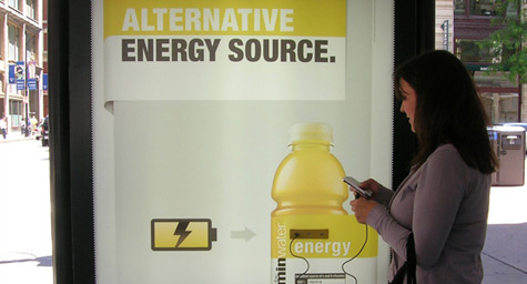 Vitaminwater Quenches Phone Charging Needs Through Bus Ads