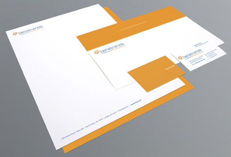 Benetrends stationery package by MDG Advertising