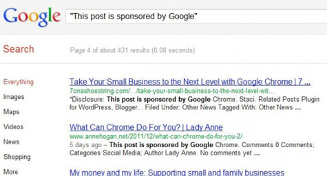 Google's Jaw-Dropping Sponsored Post Campaign For Chrome