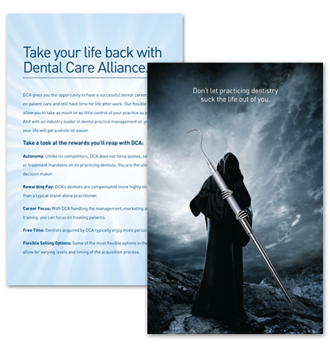 MDG Shocks With A New Dental Acquisition Ad Campaign For Dental Care Alliance