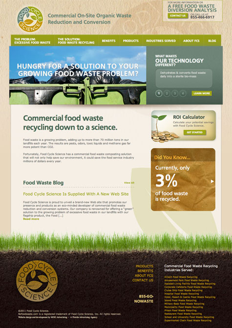 MDG Wins ADDY® Acclaim with New Website for Food Cycle Science