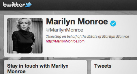 Marilyn Monroe Officially Joins Twitter