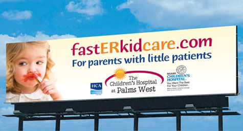 Pediatirc ER campaign for HCA East FLorida