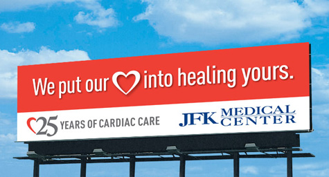 MDG Advertising Puts its Heart Into a New Billboard for The Heart and Vascular Institute at JFK Medical Center