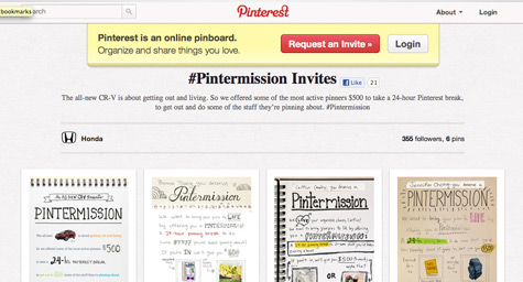 Honda Targets Pinterest Users, Asks Them to Take a Day Off