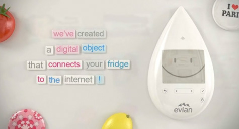 Evian Will Connect Your Fridge to the Internet with Smart Drop