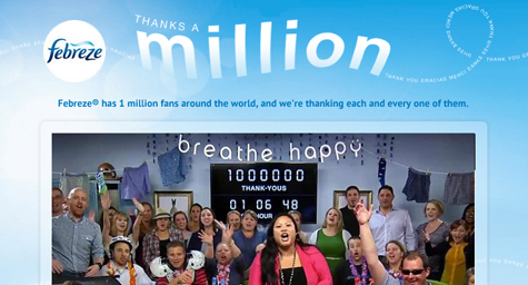 Febreze Offers a Million Thanks (Literally) to Facebook Fans [Social Media Marketing]
