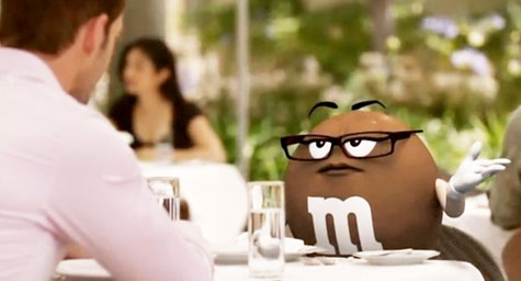 M&M's Ms. Brown Plays the Dating Game in New TV Commercial