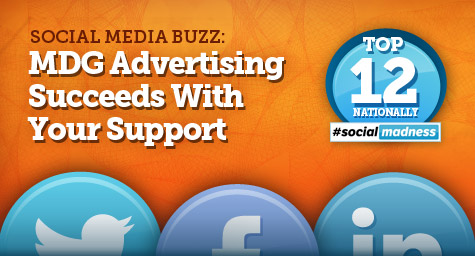 MDG Advertising Earns Top 12 Spot in National Social Media Competition