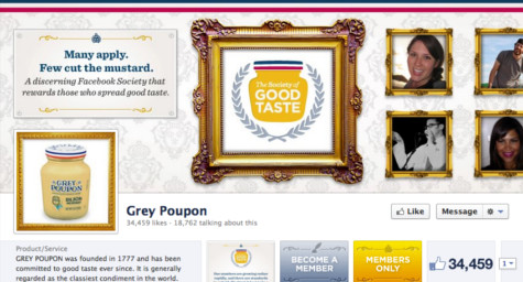 Grey Poupon Makes a Case for Favoritism on Facebook