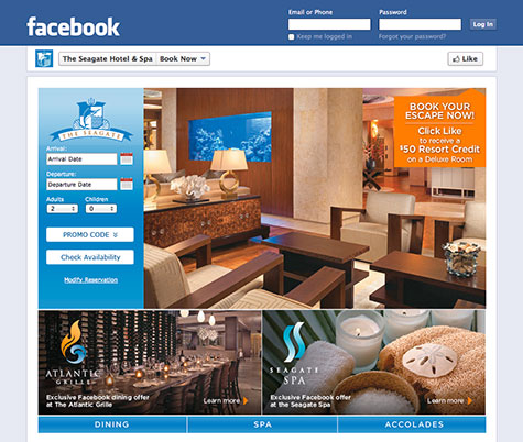 MDG Advertising Launches Facebook-Based Booking Engine for The Seagate Hotel & Spa