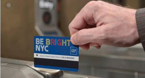Gap is First Advertiser to Jump Aboard the MetroCard