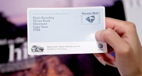 VW's Print Advertising Goes Green with Pre-Paid Mailing Label to Recycle Magazine