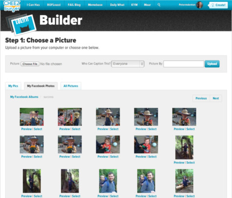 Cheezburger builder for meme creation