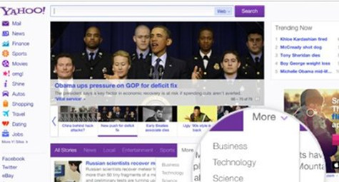 New Yahoo Homepage Goes Social with Facebook-Personalized Streams