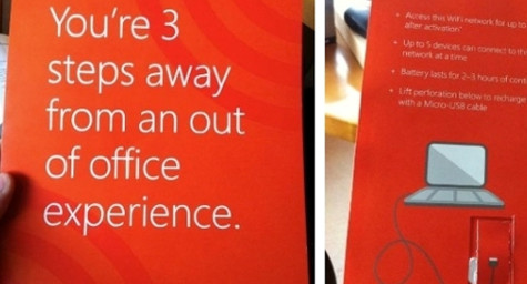 Microsoft Places a Wi-Fi-Enabled Print Advertising Promotion