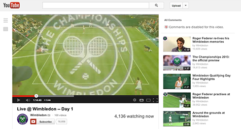 Watch Wimbledon Tennis Live on YouTube Starting Today
