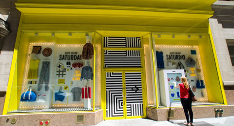 Kate Spade Outfits New York City Stores for Interactive Shopping
