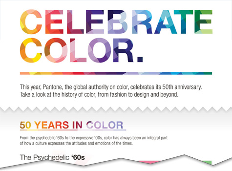 Celebrate Color by Decade [Infographic]